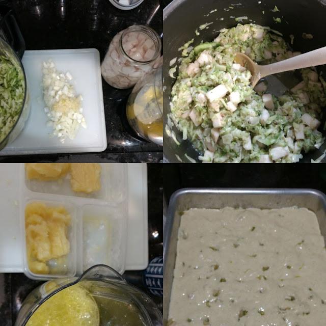 preparação de torta de liquidificador