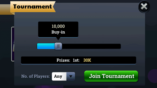 Join tournament