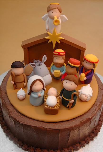 Nativity Cake - semua dari Galeri Cupcake
