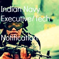Indian Navy Technical & Executive Branch Notification June 2013