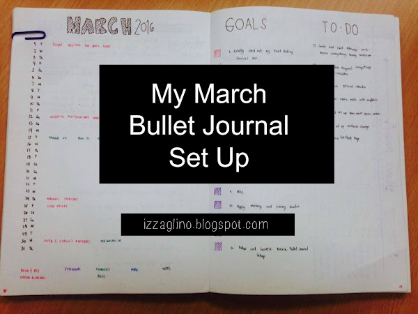 My March Bullet Journal Set Up