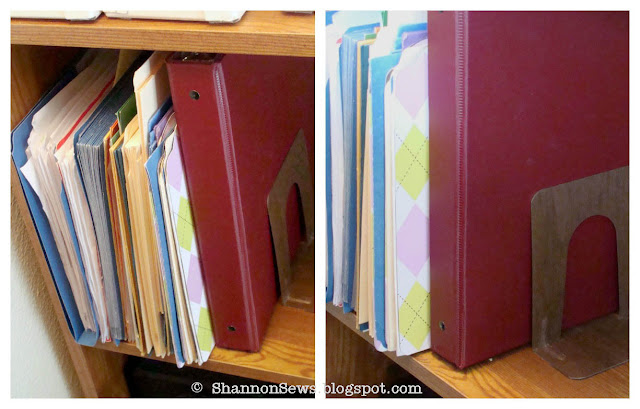 Easy fix to stop sliding bookends.