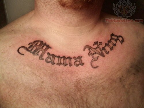 Chest Tattoo For Men Lettering