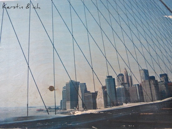 DIY Fototransfer auf Holz Foto Brooklyn Bridge