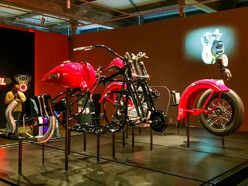 The Anatomy of a Motorcycle at the Harley Davidson Museum in Milwaukee