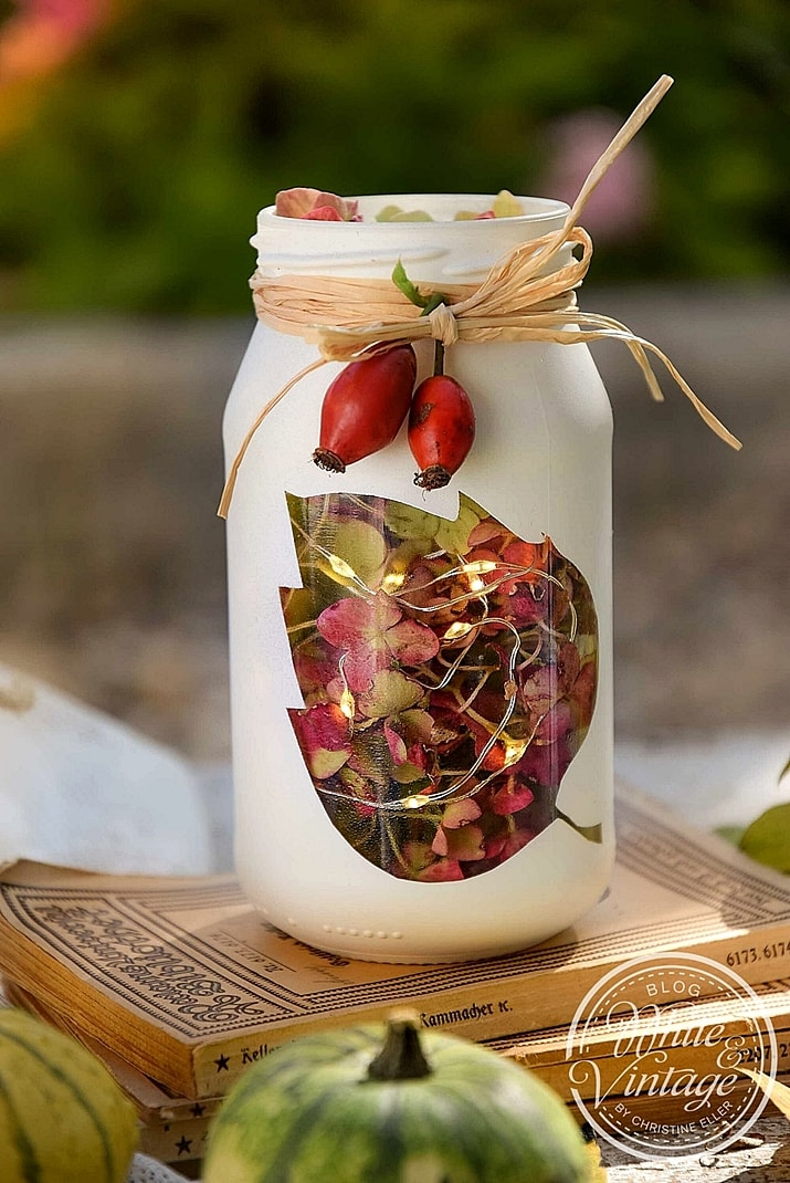 Upcycling-Deko: Windlichter aus Marmeladengläsern