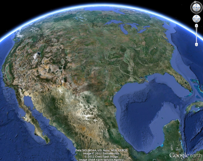 Google Earth for iOS screenshot