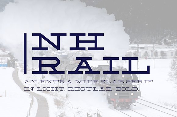 NH Rail Extra Wide Slab Font