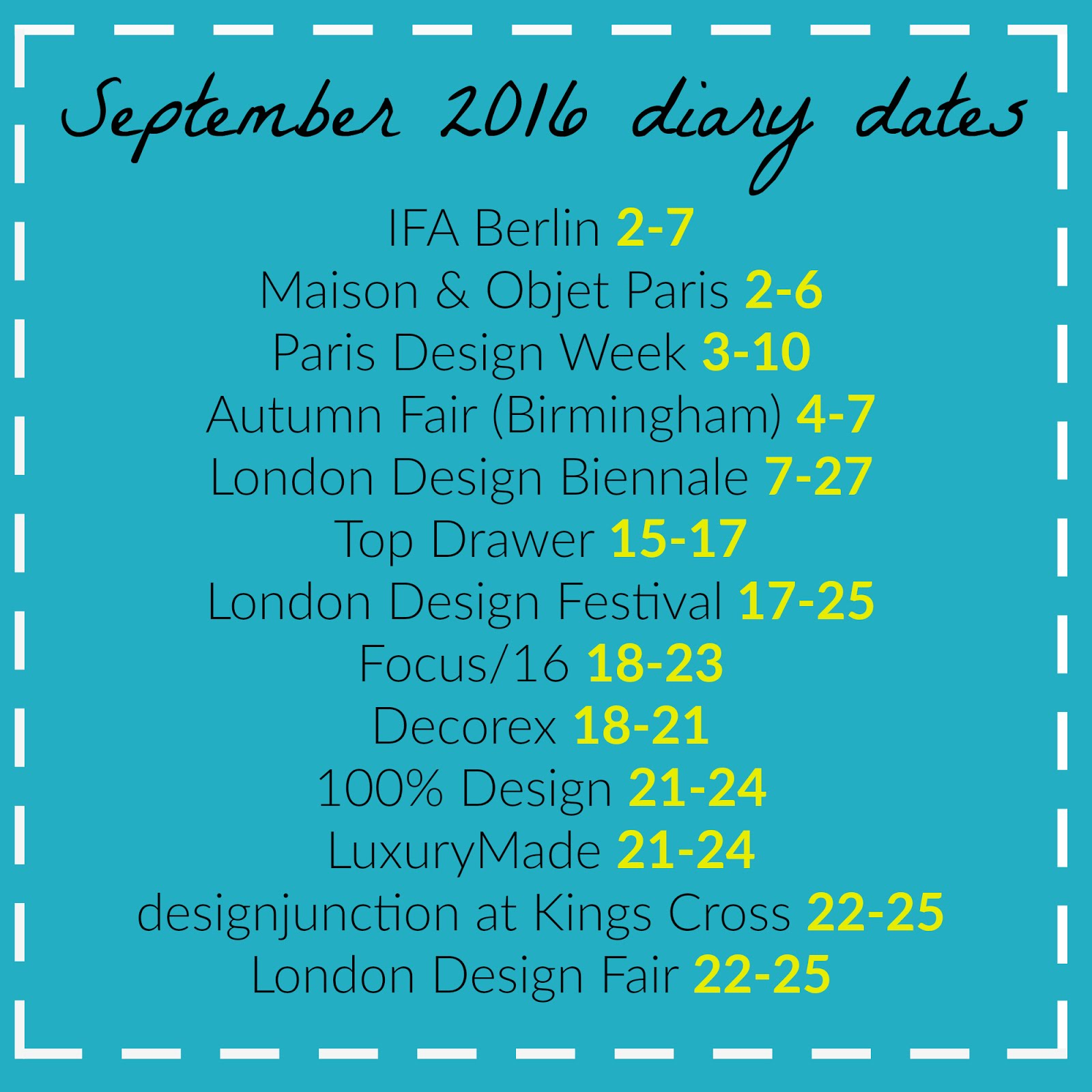 September Fairs and Events, hellopeagreen