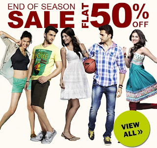 End of Season Sale: Get Flat 50% Discount on Men's & Women's Fashionwear