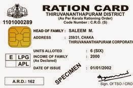 Ration Card Of India