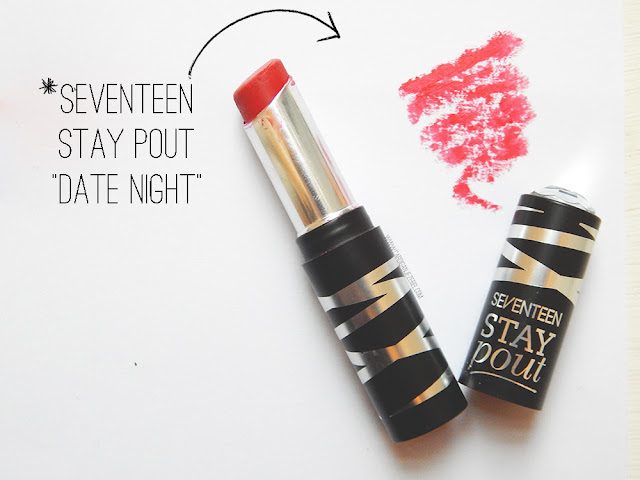 Seventeen Stay Pout Lipstick in Date Night