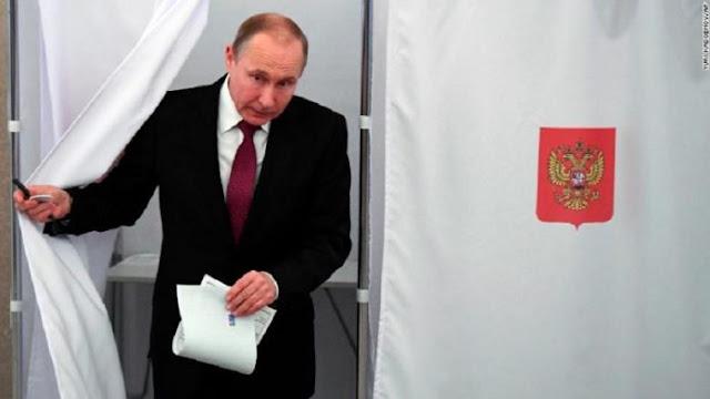 Vladimir Putin es reelecto con más del 70% de los votos