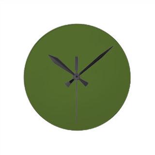 Olive green wall clock