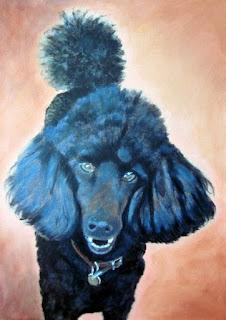 custom portrait, dog, painting, pet portrait,