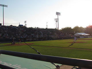 First pitch, Curve vs. Rock Cats