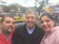 Secretário de Esportes, Luiz Otávio Oliveira, Padre Jorge e a subsecretária Giovânia Ramos