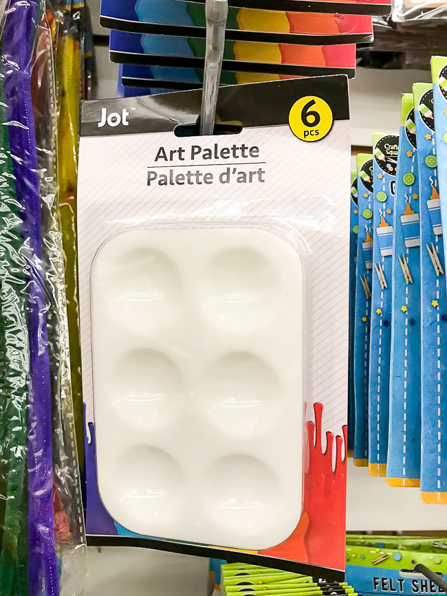 Dollar Tree art palette
