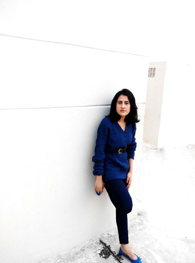 blue on blue look ,zara blue jeans