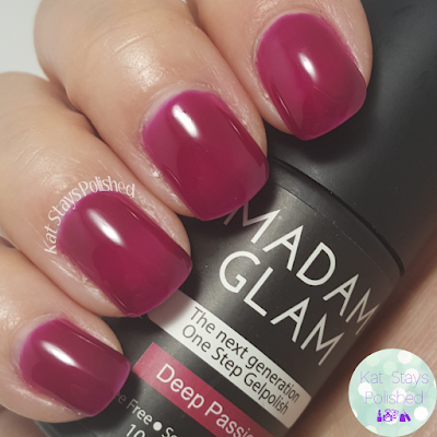 Madam Glam One Step Gel - Deep Passion | Kat Stays Polished