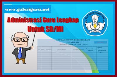 ADMINISTRASI KELAS SD TAHUN AJARAN 2018/2019