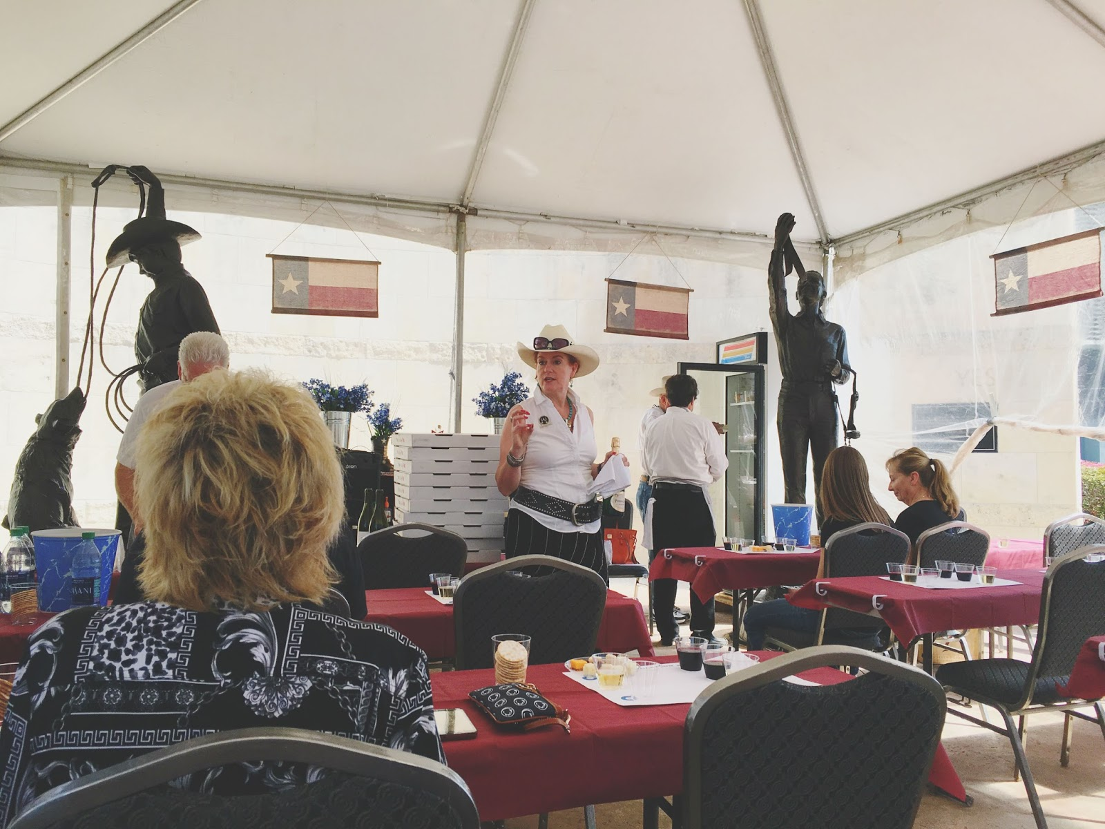 2016 Houston Livestock Show and Rodeo Champion Wine Garden wine and pizza seminar