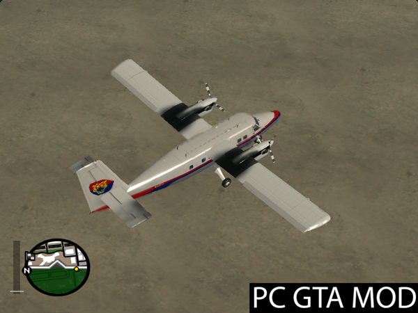 Free Download DHC-6-300 Twin Otter Harimau Airlines (Fake-Real Livery)  Mod for GTA San Andreas.