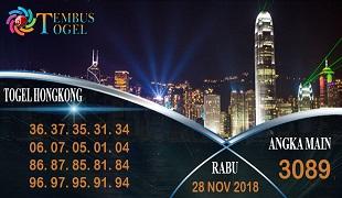 Prediksi Angka Togel Hongkong Rabu 28 November 2018