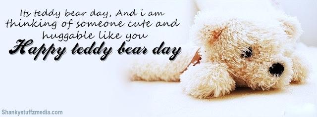 Happy Teddy bear day  whatsapp status