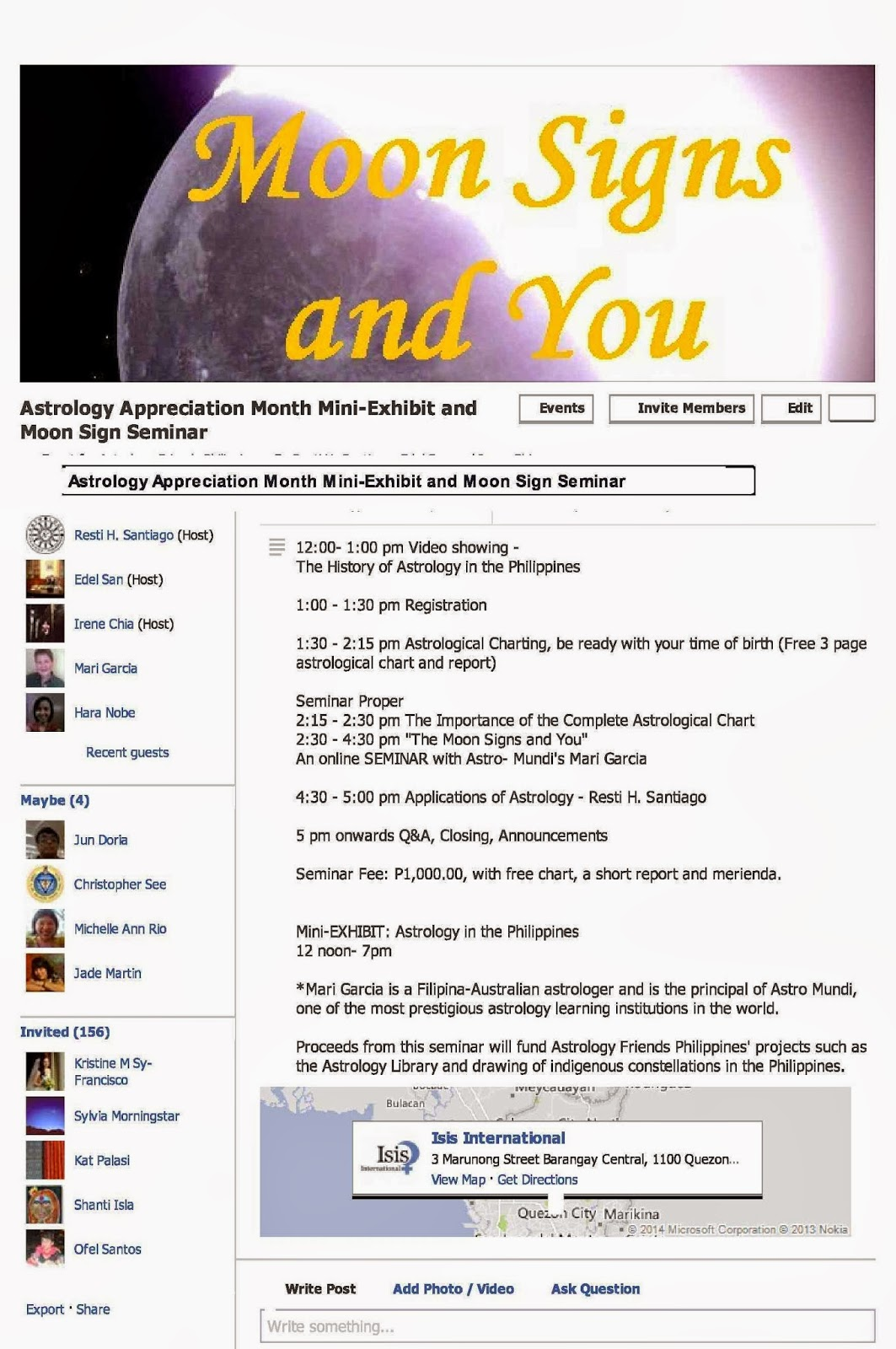 Astrology friends philippines march 2014 astrology appreciation month mini exhibit and moon sign seminar on march 15 2014 geenschuldenfo Image collections