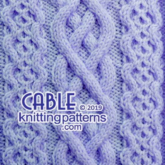 Big Cables - Free stitch pattern.