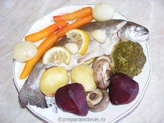 Pastrav cu legume la aburi retete culinare,