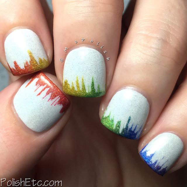 Latex Waterfall Gradient Rainbow Tips for the #31DC2016Weekly - McPolish