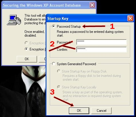 how to break syskey password