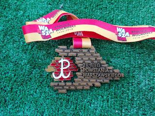 Medal Bieg Powstania Warszawskiego 2018