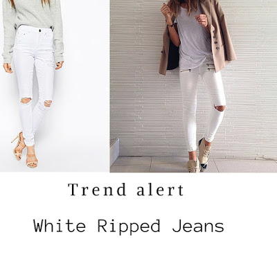 outfit jeans bianchi strappati come indossare i jeans bianchi strappati abbinamenti jeans bianchi strappati idee outfit jeans bianchi strappati ripped white jeans outfit how to wear white ripped jeans how to combine white ripped jeans tendenze primavera estate 2016 spring trend mariafelicia magno fashion blogger color block by felym fashion blog italiani fashion blogger italiane  blogger italiane di moda influencer italiane italian influencer