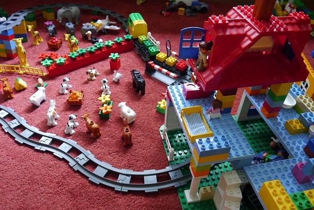 Lego Duplo aufgebaut