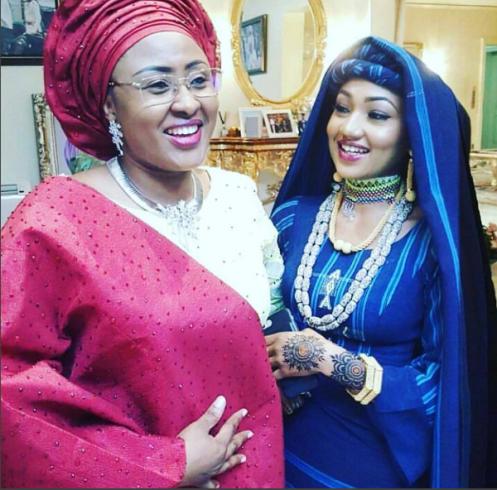 Beautiful photo of Zara Buhari and her mother during her Henna ceremony
