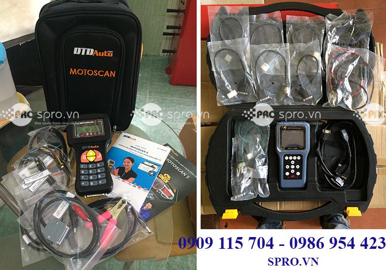 Máy chuẩn đoán lỗi xe máy MST-100P và Motoscan dành cho tiệm sửa xe máy