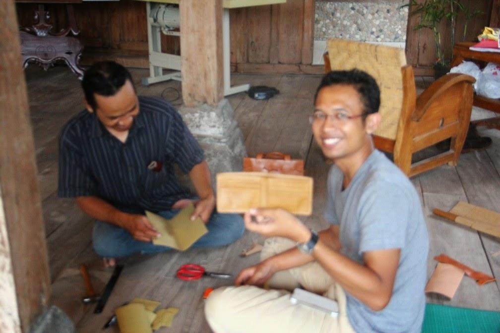 kursus dompet kulit handmade