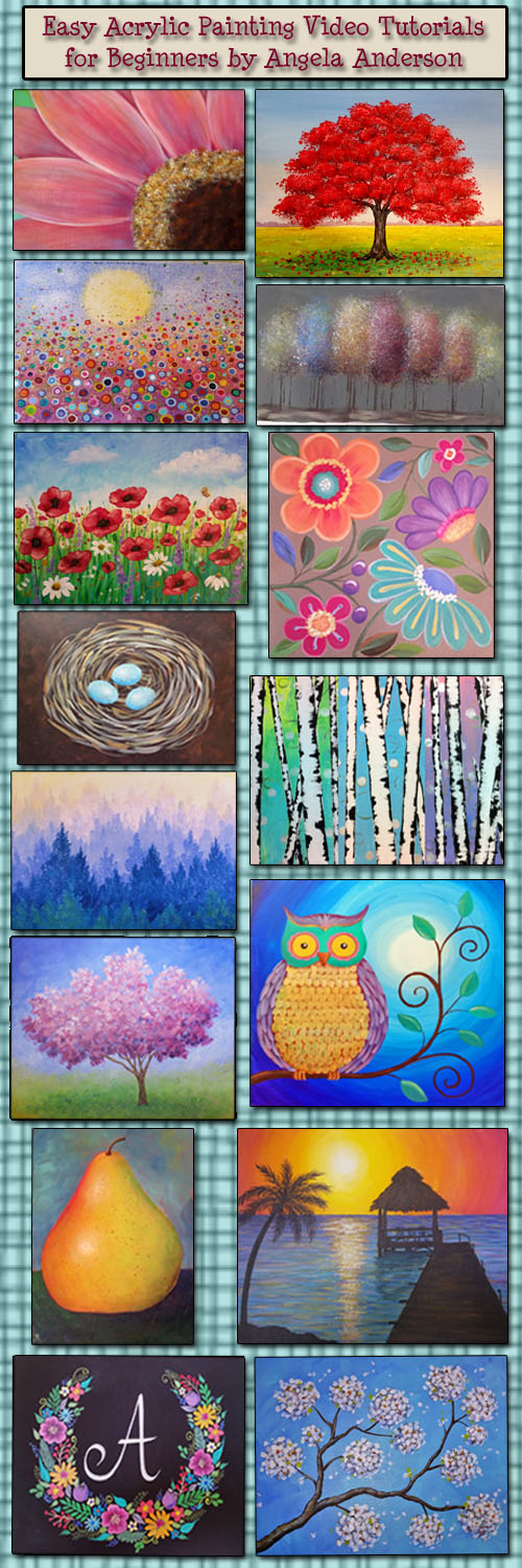 Angela Anderson Art Blog: Acrylic Painting Tutorials by ...