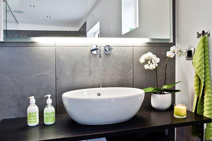 Badezimmer Deko Grau Wohn Design