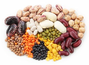 Plate of various types of pulses