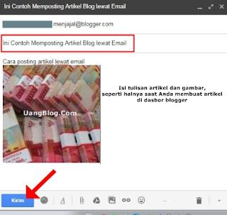 Memposting artikel blog tanpa login blogger