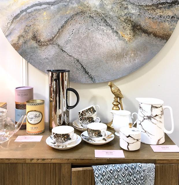 Homesense - the art of entertaining - harlow and thistle - marble tea set