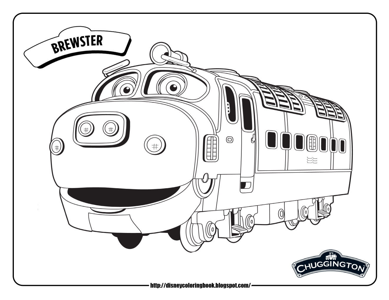 chuggington brewster train coloring pages