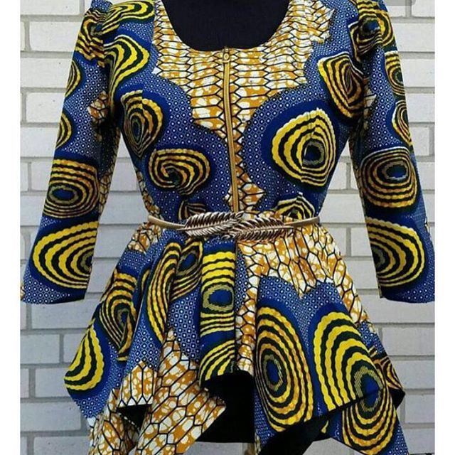 Awesome Ankara Tops 2018 for Cute Ladies