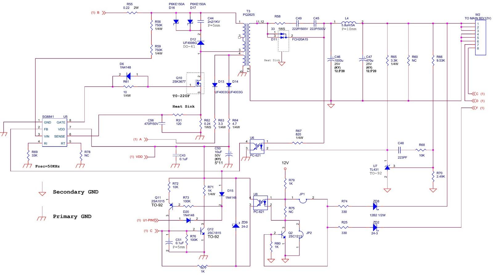vizio l30wgu 30 lcd tv main power schematic circuit diagram vizio tv power supply schematic [ 1600 x 893 Pixel ]