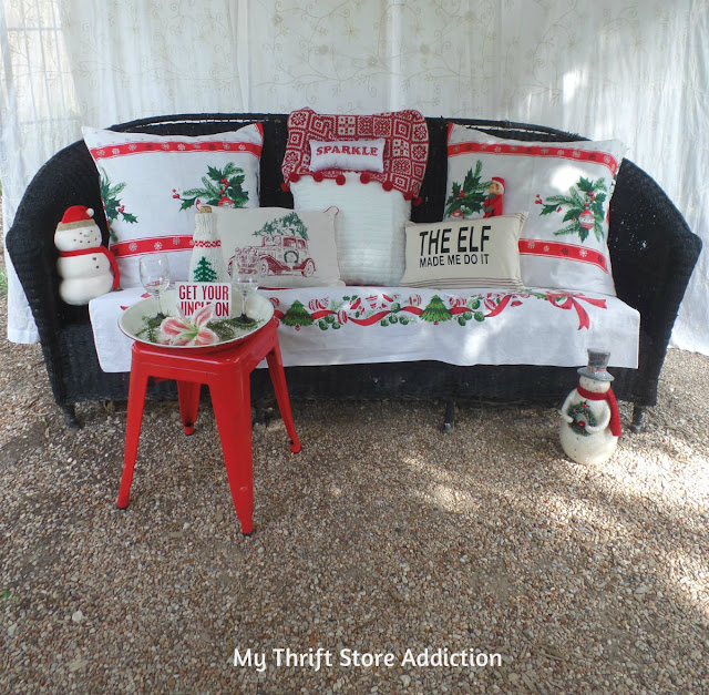 vintage gazebo Christmas porch tour