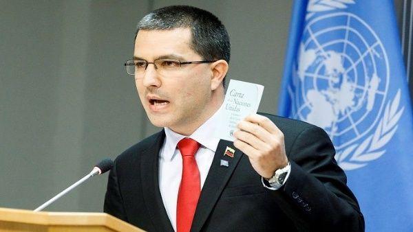 Canciller Arreaza denuncia que EE.UU. viola la Carta de la ONU